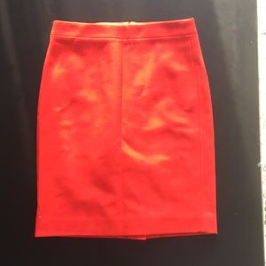 J Crew Burnt Orange Pencil Skirt, never worn